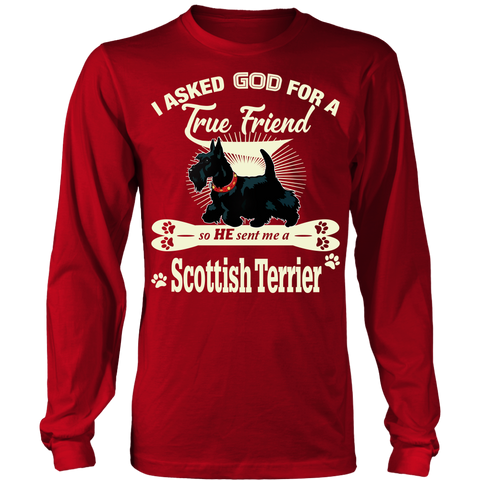 Scottish Terrier - Scotland Long Sleeve T-shirts | HOT Sale