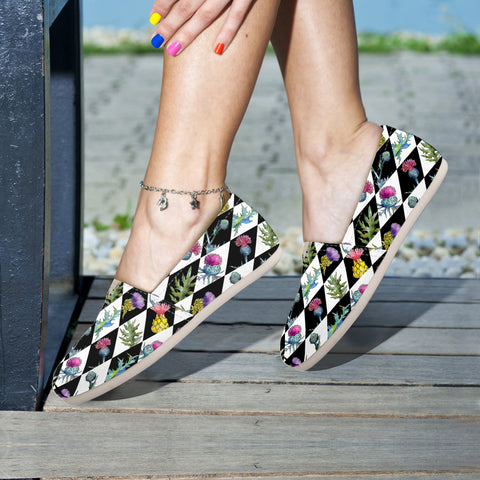 Scotland Thistle Pattern 01 - Women's Casual Shoes | HOT SAL5