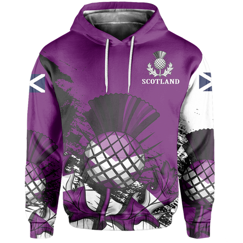 Custom - Scotland Pullover Hoodie Violet Version