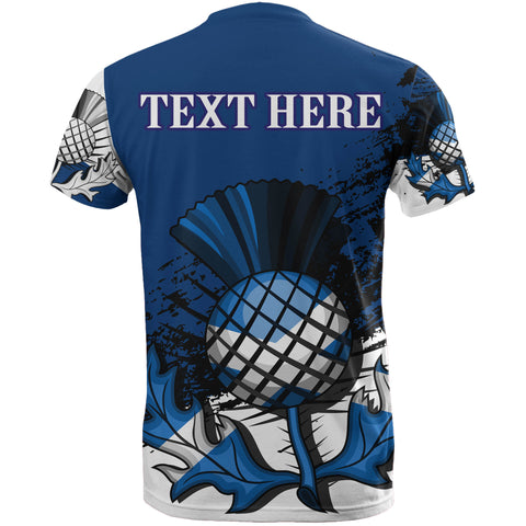 Custom - Scottish Thistle Blue Edition All Over Print T-Shirt