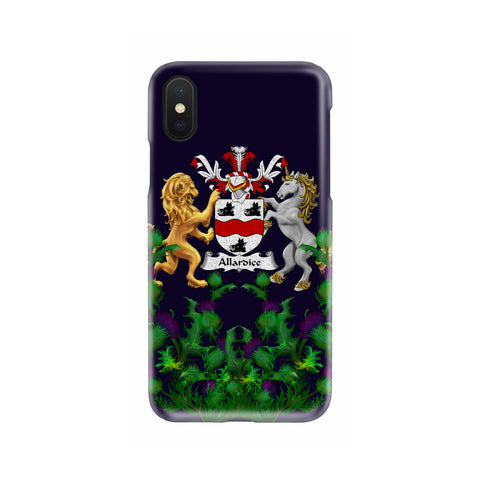 Image of Allardice 1stScotland Phone Case - Thistle Purple Family Crest A22