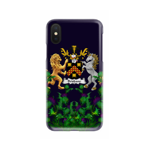 Brisbane 1stScotland Phone Case - Thistle Purple Family Crest A22