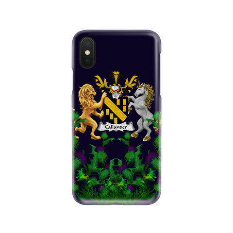 Callander 1stScotland Phone Case - Thistle Purple Family Crest A22