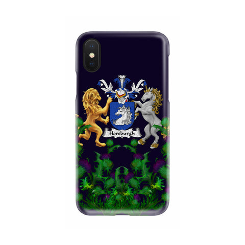 Horsburgh 1stScotland Phone Case - Thistle Purple Family Crest A22