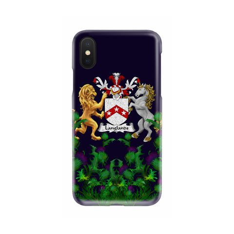 Langlands 1stScotland Phone Case - Thistle Purple Family Crest A22
