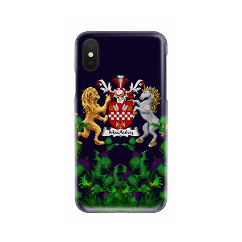 MacAuley 1stScotland Phone Case - Thistle Purple Family Crest A22