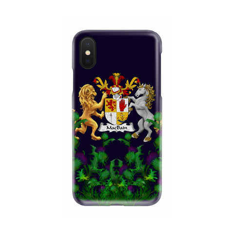 MacBain 1stScotland Phone Case - Thistle Purple Family Crest A22