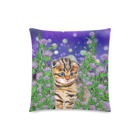 Scottish Fold Cat And Thistle - Pillow Covers | HOT Sale