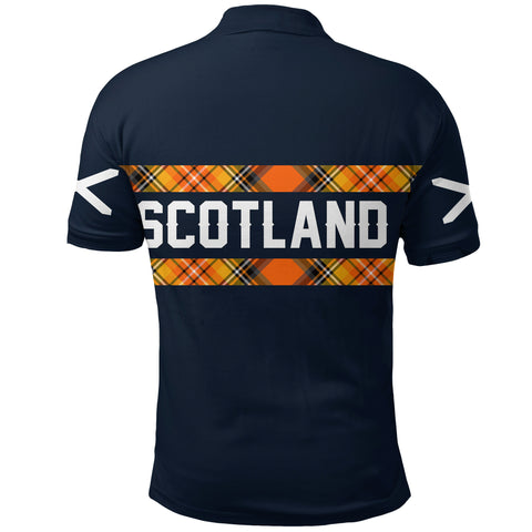 Image of 1stScotland Navy Polo Shirt A7