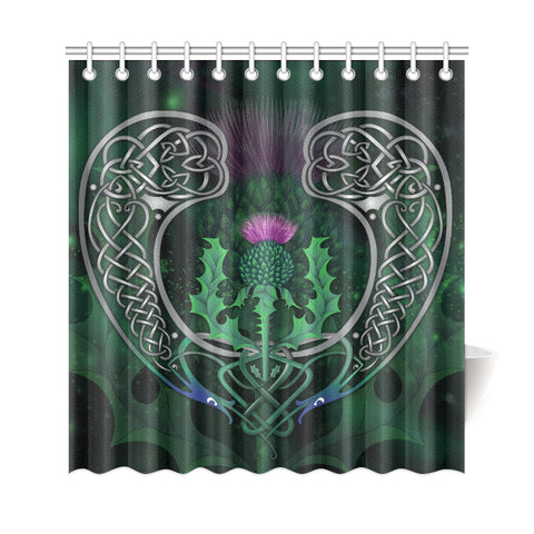 Scotland Shower Curtain - Celtic Thistle Green | Love Scotland