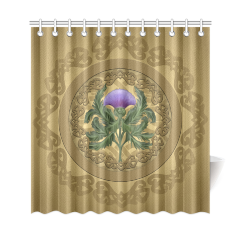 Luxurious Thistle Scottish - Shower Curtain | Special Custom Design