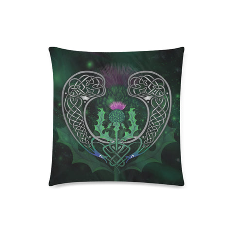 Scotland Pillow Case - Celtic Thistle Green | Love Scotland