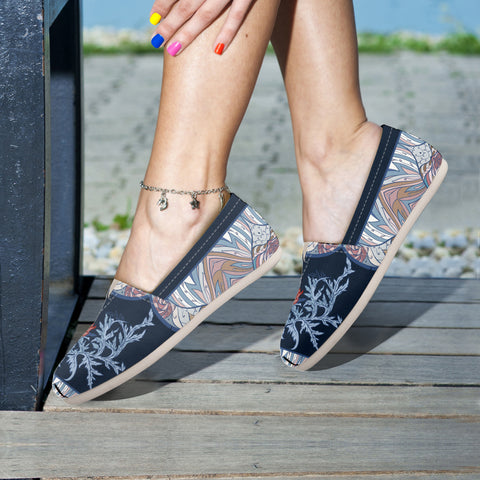 Scotland Thistle Pattern 06 - Women's Casual Shoes | HOT SALE