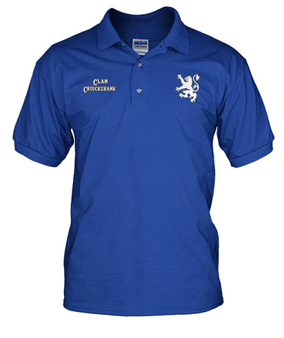Clan Cruickshank Scottish Rampant Lion Mens Polo Shirt | Over 300 Clans | Special Custom Design | Love Scotland