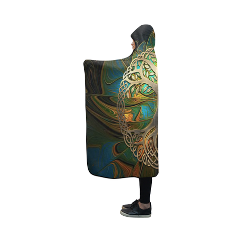 Celtic Hooded Blanket - Luxury Golden Celtic Tree | HOT Sale