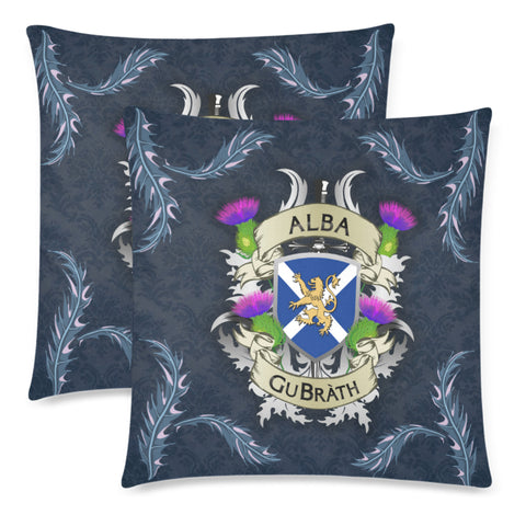 Image of Scotland Zippered Pillow Cases - Scotland Forever Flag Lion Thistle (Alba GuBràth)
