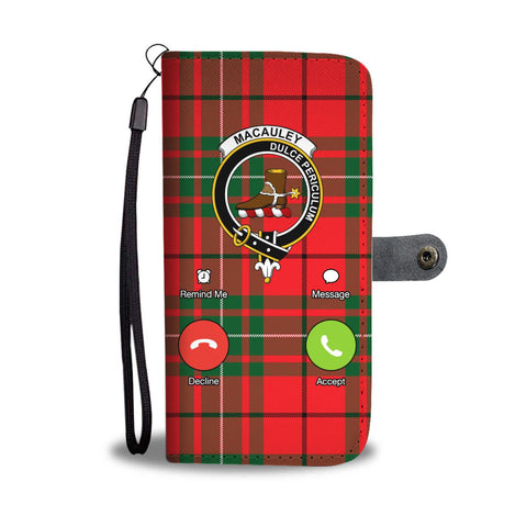 Image of Tartan Wallet Case - Macauley Is Calling A9