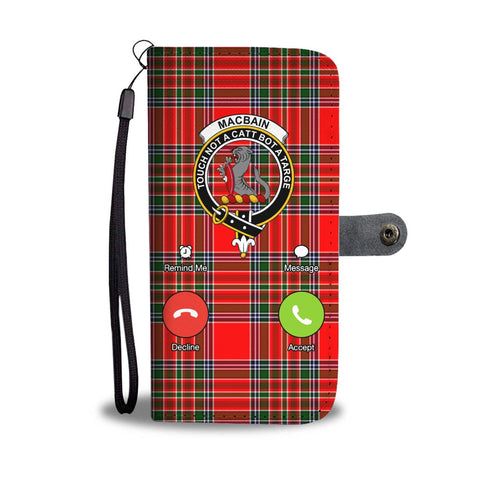 Image of Tartan Wallet Case - Macbain Is Calling A9