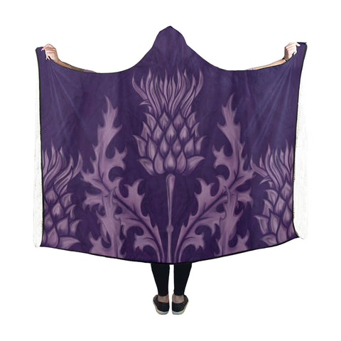 Scotland Hooded Blanket - Scottish Thistle Purple Edition | HOT Sale