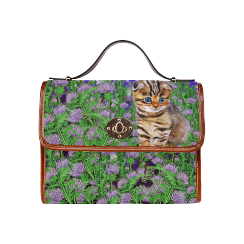 Scottish Fold Cat And Thistle - Waterproof Canvas Bag | HOT Sale