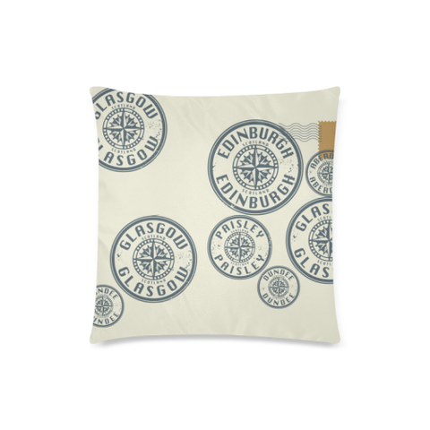Travel Stamps 02 - Scotland Pillow Covers | Special Custom Design