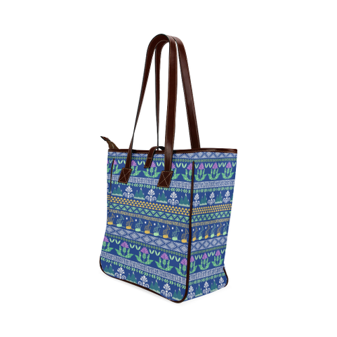 Blue Thistle Pattern - Classic Tote Bag | Hot Sale