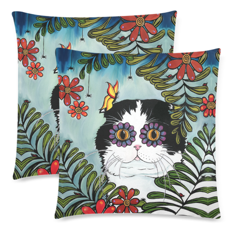 Hiding Scottish Fold Cat - Pillow Cushions Cover | HOT Sale