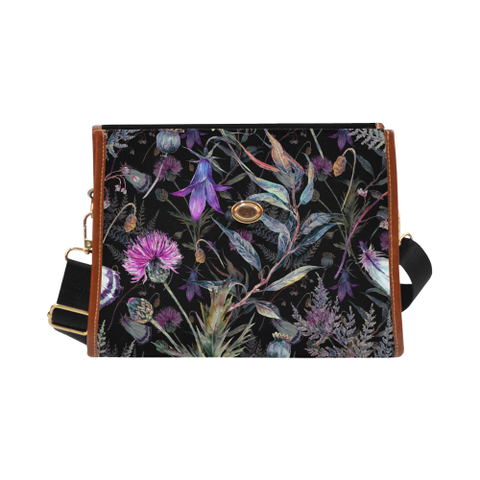Thistle In Night - Waterproof Canvas Bag | Special Custom Design