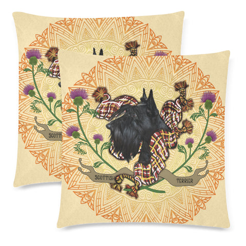 Image of Scotland Pillow Case - Scottish Terrier Thistle | Love Scotland