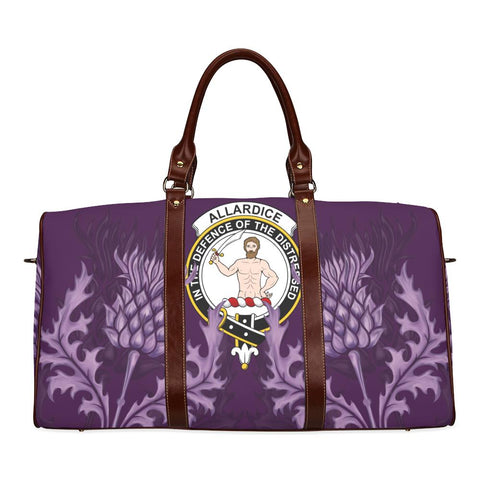 Image of Allardice Crest Scottish Thistle Scotland Travel Bag A7