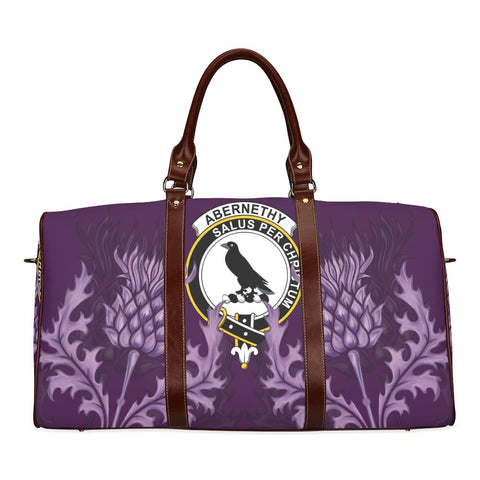 Image of Abernethy Crest Scottish Thistle Scotland Travel Bag | Over 300 Clans