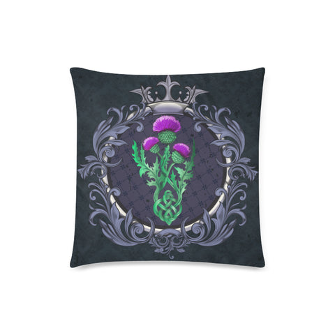 Image of Scotland Pillow Covers - Thistle Celtic  Royal Purple | Love Scotland