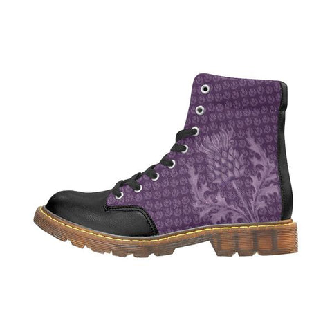 Image of Scotland High Apache Boots - Scottish Thistle Purple Edition | HOT Sale
