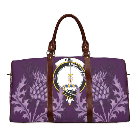 Bell Crest Scottish Thistle Scotland Travel Bag | Over 300 Clans