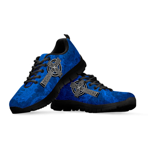 Image of Celtic Cross Lion - Scottish Blue Sneakers | Love Scotland