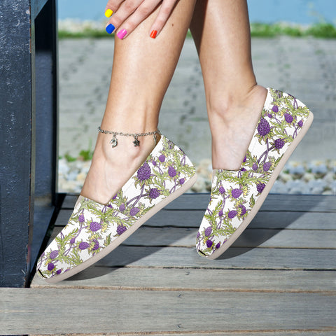 Scotland Thistle Pattern 08 - Women's Casual Shoes | HOT SALE