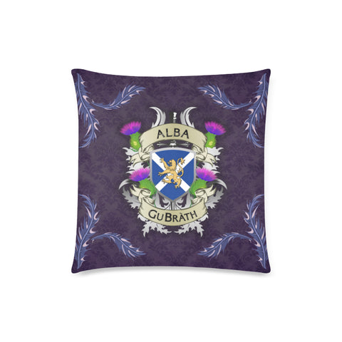 Image of Scotland Zippered Pillow Cases - Flag Lion Thistle Purple (Alba GuBràth) A02