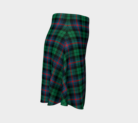 Image of Tartan Flared Skirt - Urquhart Broad Red Ancient |Over 500 Tartans | Special Custom Design | Love Scotland
