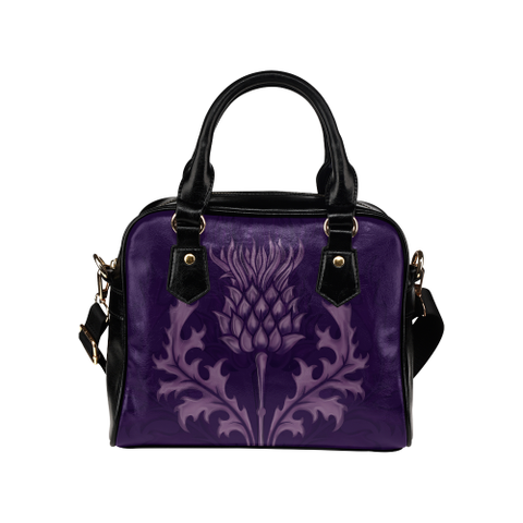 Scotland Handbag - Purple Thistle | HOT Sale