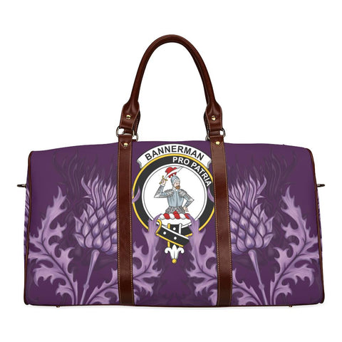 Bannerman Crest Scottish Thistle Scotland Travel Bag | Over 300 Clans