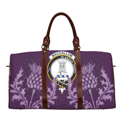 MacCallum Crest Scottish Thistle Scotland Travel Bag | Over 300 Clans