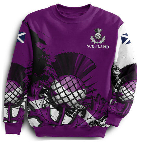Scottish Thistle Purple Edition All Over Print Sweatshirt