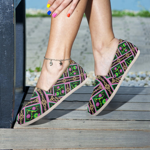 Scotland Thistle Pattern 09 - Women's Casual Shoes | HOT SALE