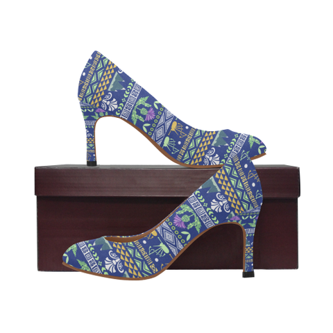 Blue Thistle Pattern - Scotland Heel | hot sale