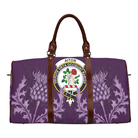 Aiton Crest Scottish Thistle Scotland Travel Bag | Over 300 Clans