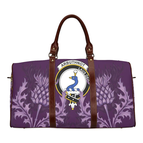 Image of Arbuthnot Crest Scottish Thistle Scotland Travel Bag A7