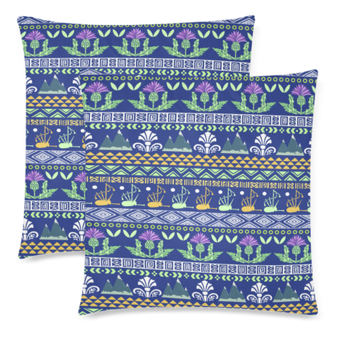 Blue Thistle Pattern - Pillow Covers | Special Custom Design