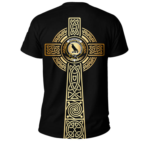 Abernethy T-shirt Celtic Tree Of Life Clan Black Unisex A91