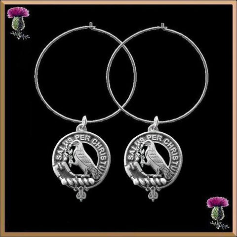 Abernethy  Tartan Earrings Clan Crest