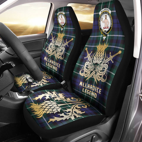 Car Seat Cover Allardice Clan Crest Gold Thistle Courage Symbol